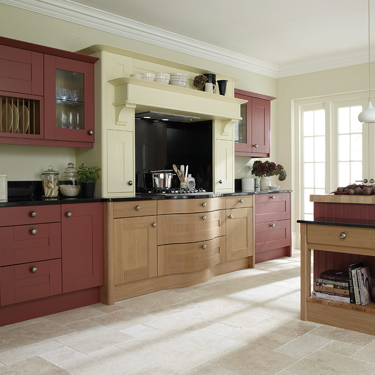 Broadoak Cranberry Fitted Kitchen