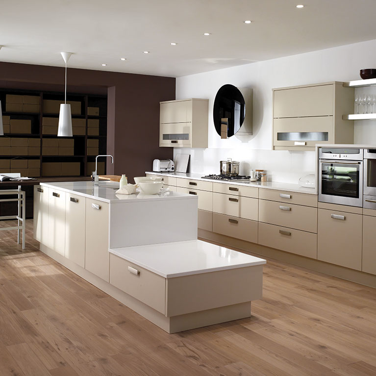 Fresco Beige & White Fitted Kitchen