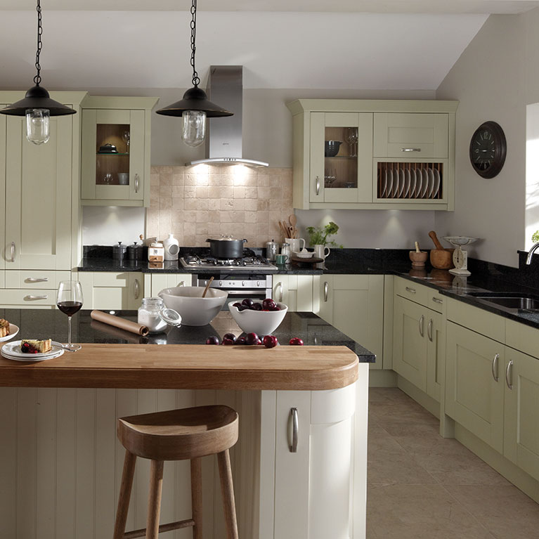 Milbourne Alabaster & Sage Fitted Kitchen