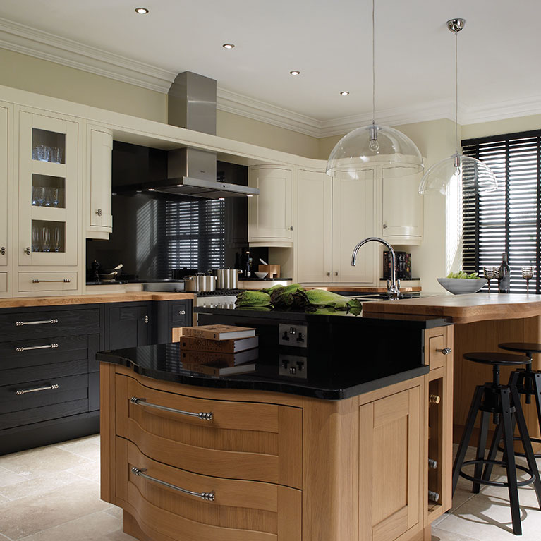 Milton White & Charcoal Fitted Kitchen