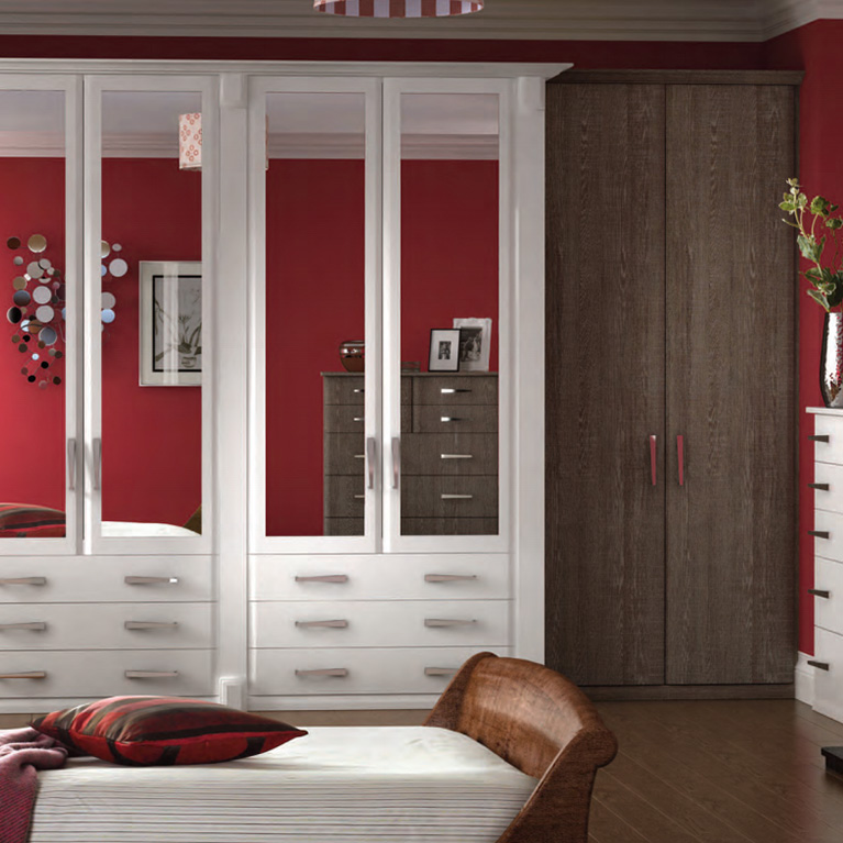 Misano White & Oak Fitted Bedroom
