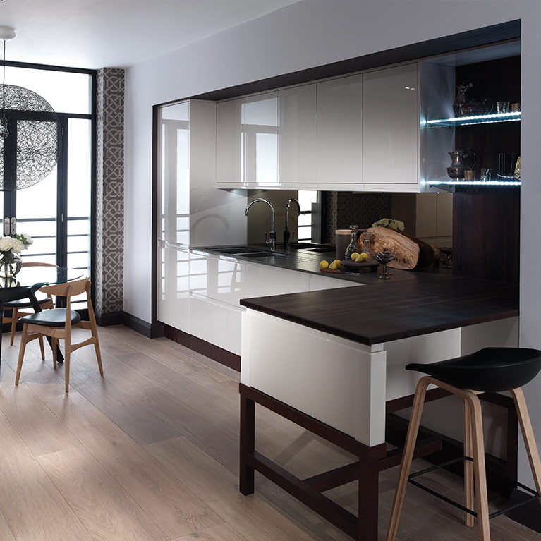 Remo Gloss Cashmere Fitted Kitchen