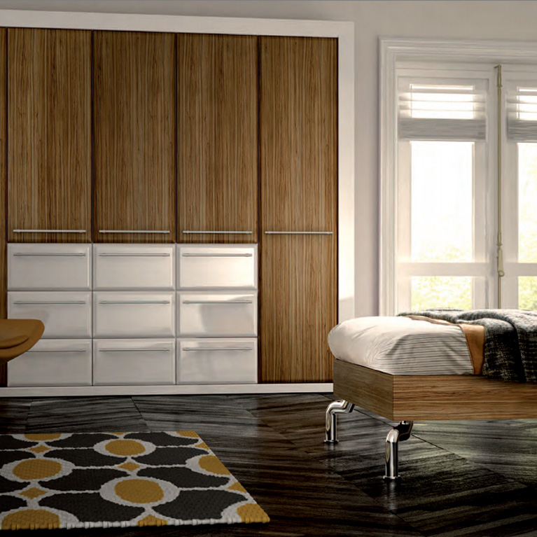 Valencia Walnut Fitted Bedroom