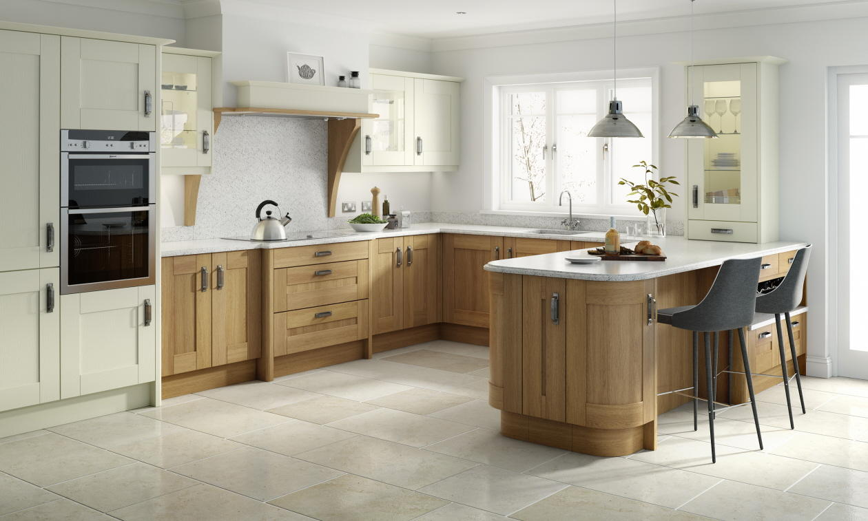 Charmant Broadoak Natural Fitted Kitchen