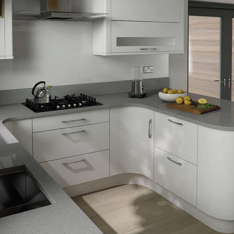 Porter White Fitted Kitchen Number One Kitchens - Grey fitted kitchens