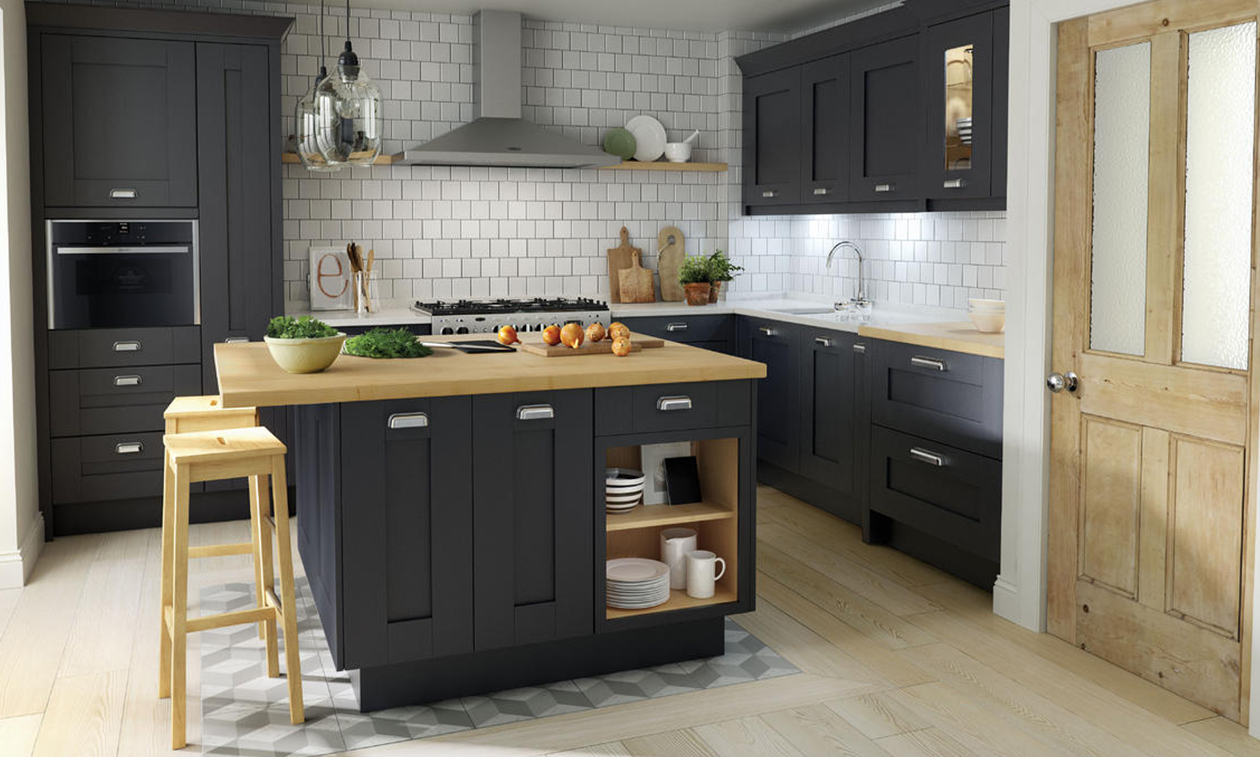 Milbourne Charcoal Fitted Kitchen Number One Kitchens