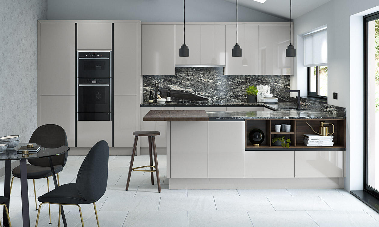 Porter Silver Grey Fitted Kitchen Number One Kitchens - Grey fitted kitchens