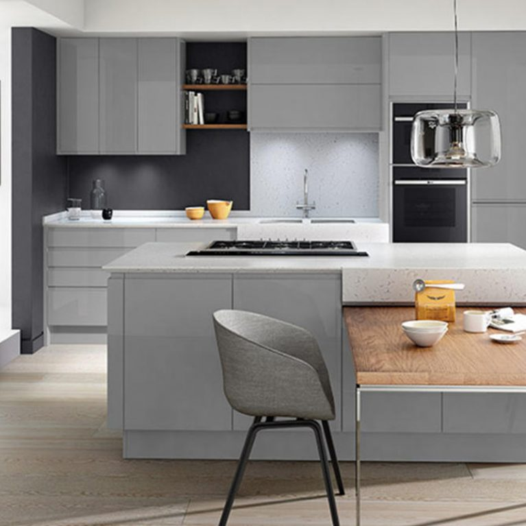 Remo Silver Grey Fitted Kitchen