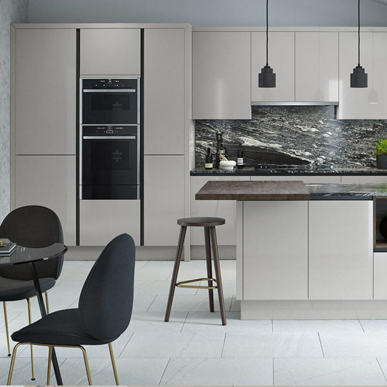 Porter Silver Grey Fitted Kitchen