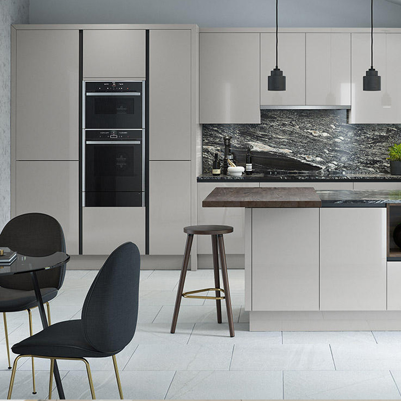 Black And Silver Kitchen Appliances: Porter Silver Grey Fitted Kitchen